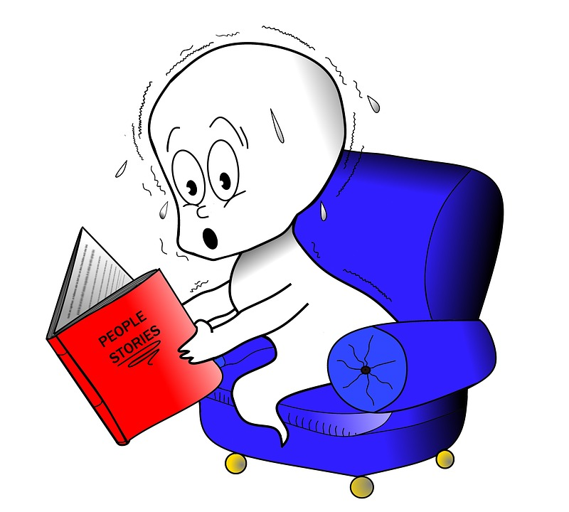 Picture of ghost reading