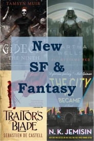 New science fiction and fanatsy books graphic