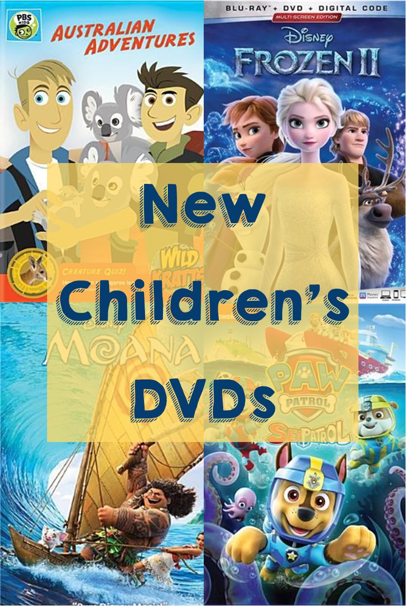 New childrens DVDs graphic
